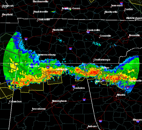 Radar Image for Severe Thunderstorms near Adairsville, GA at 7/14/2015 8:00 PM EDT