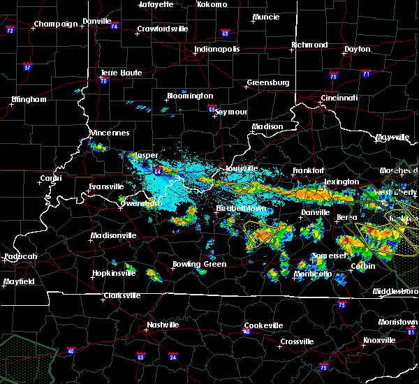 Radar Image for Severe Thunderstorms near Bradfordsville, KY at 7/14/2015 8:00 PM EDT