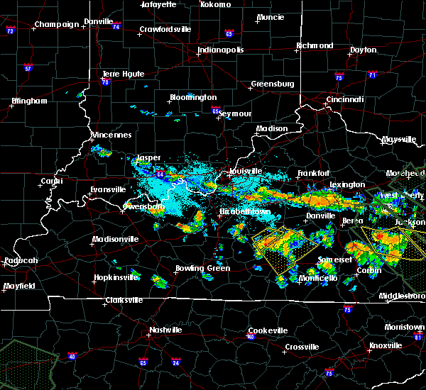 Radar Image for Severe Thunderstorms near Bradfordsville, KY at 7/14/2015 8:05 PM EDT