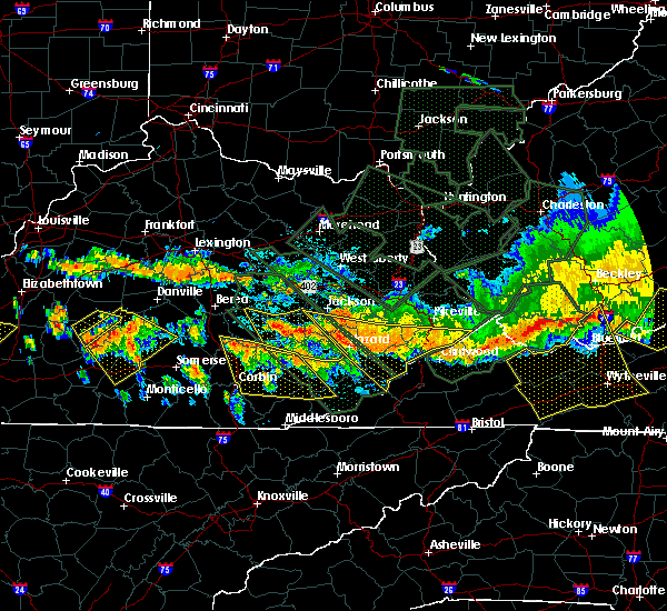 Radar Image for Severe Thunderstorms near Barbourville, KY at 7/14/2015 8:12 PM EDT