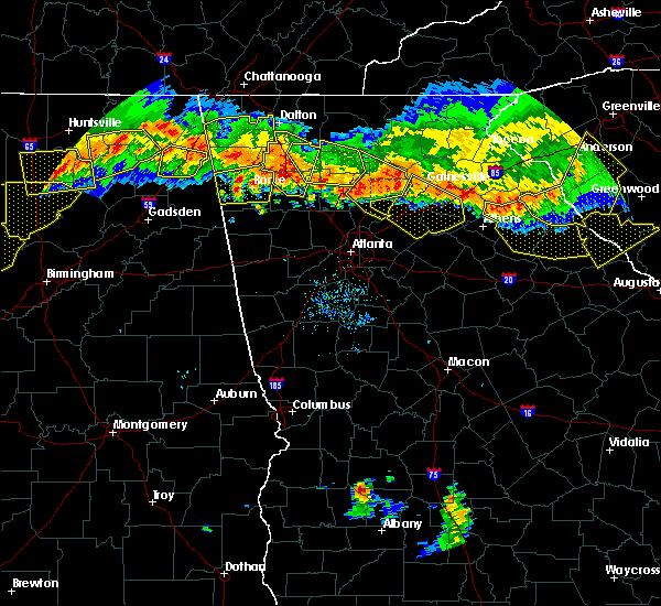 Radar Image for Severe Thunderstorms near Oakwood, GA at 7/14/2015 8:15 PM EDT