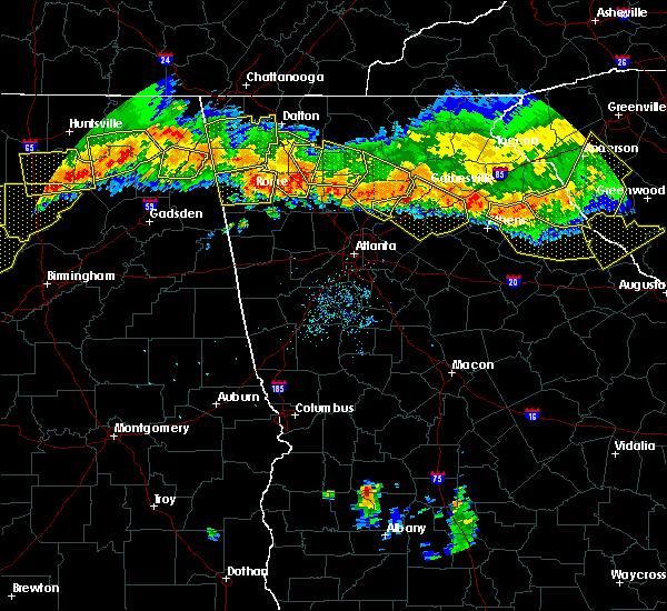 Radar Image for Severe Thunderstorms near Cartersville, GA at 7/14/2015 8:19 PM EDT