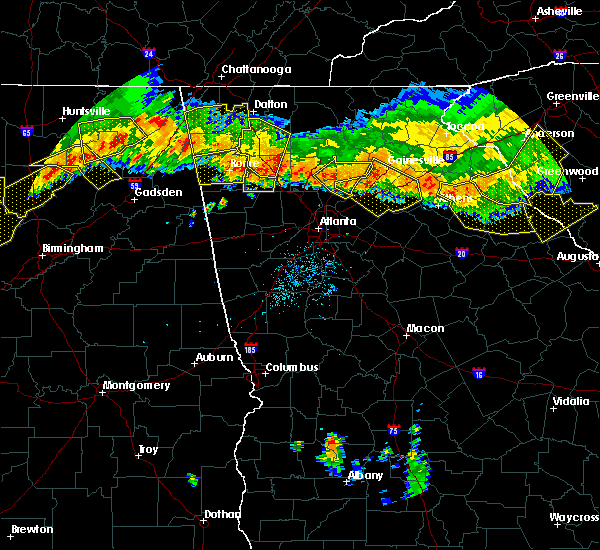 Radar Image for Severe Thunderstorms near Canton, GA at 7/14/2015 8:25 PM EDT