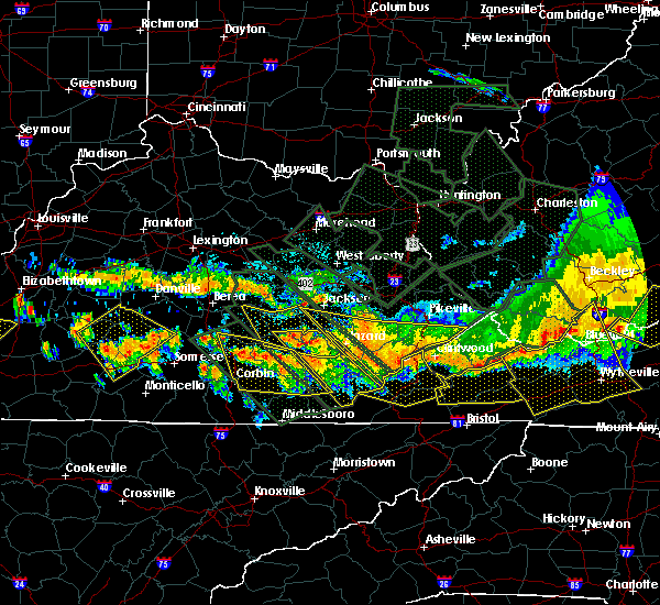 Radar Image for Severe Thunderstorms near Benham, KY at 7/14/2015 8:31 PM EDT