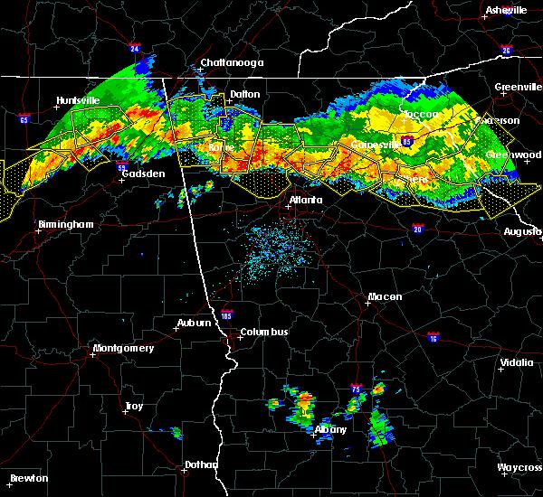 Radar Image for Severe Thunderstorms near Braswell, GA at 7/14/2015 8:33 PM EDT