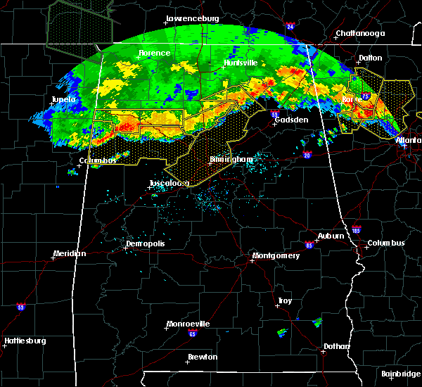Radar Image for Severe Thunderstorms near Rosa, AL at 7/14/2015 7:35 PM CDT
