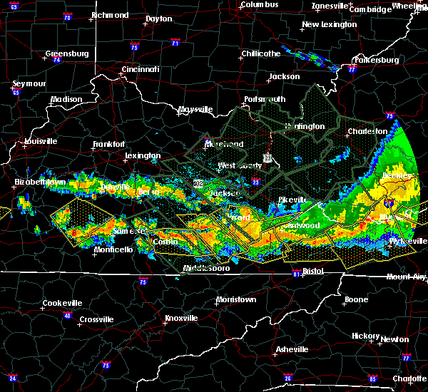 Radar Image for Severe Thunderstorms near Barbourville, KY at 7/14/2015 8:39 PM EDT