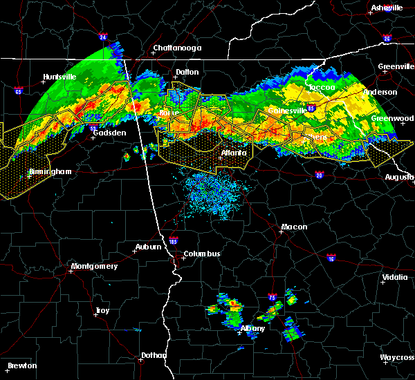 Radar Image for Severe Thunderstorms near Fairburn, GA at 7/14/2015 8:47 PM EDT