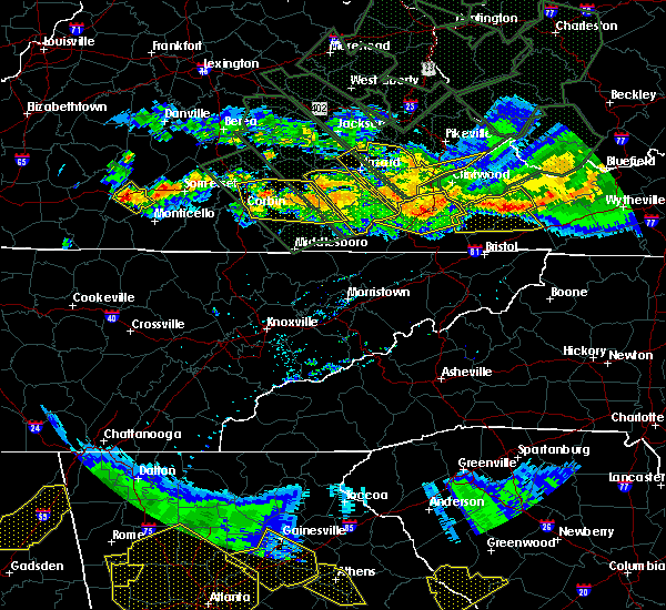 Radar Image for Severe Thunderstorms near Burnside, KY at 7/14/2015 8:50 PM EDT