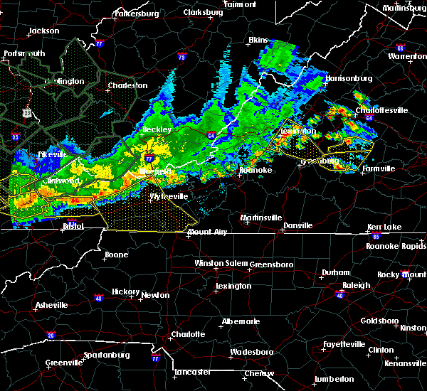 Radar Image for Severe Thunderstorms near Galax, VA at 7/14/2015 8:53 PM EDT