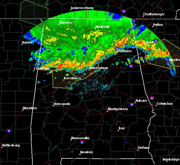 Radar Image for Severe Thunderstorms near Bessemer, AL at 7/14/2015 8:05 PM CDT