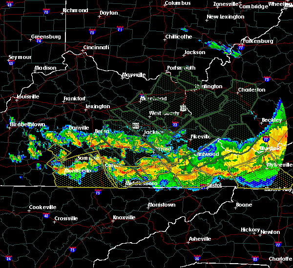 Radar Image for Severe Thunderstorms near Benham, KY at 7/14/2015 9:05 PM EDT