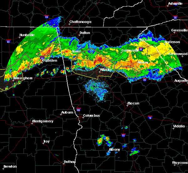 Radar Image for Severe Thunderstorms near Canton, GA at 7/14/2015 9:09 PM EDT