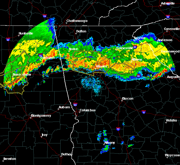 Radar Image for Severe Thunderstorms near Candler-McAfee, GA at 7/14/2015 9:26 PM EDT
