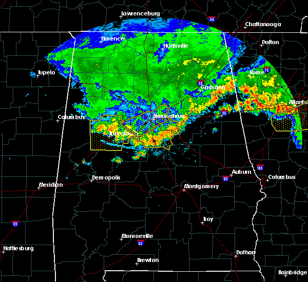 Radar Image for Severe Thunderstorms near Vincent, AL at 7/14/2015 8:42 PM CDT