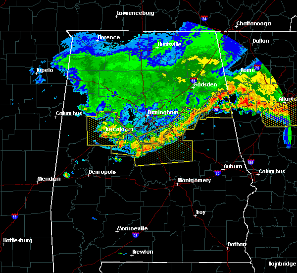 Radar Image for Severe Thunderstorms near Vincent, AL at 7/14/2015 8:54 PM CDT