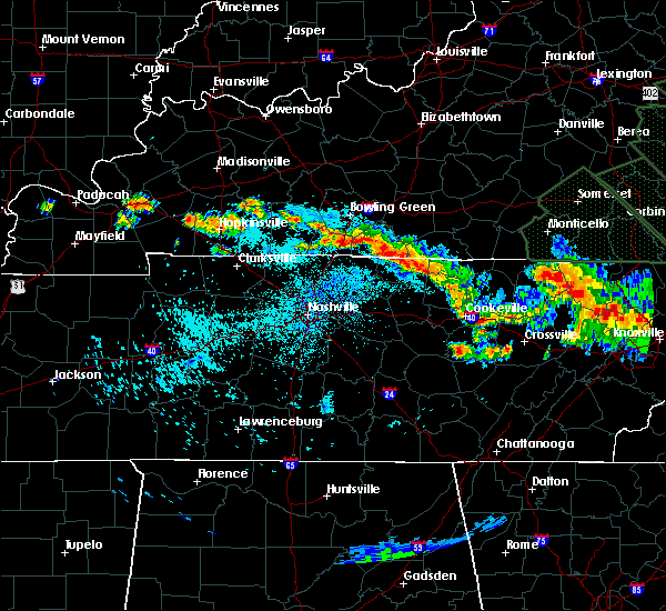 Radar Image for Severe Thunderstorms near Scottsville, KY at 7/14/2015 10:38 PM CDT