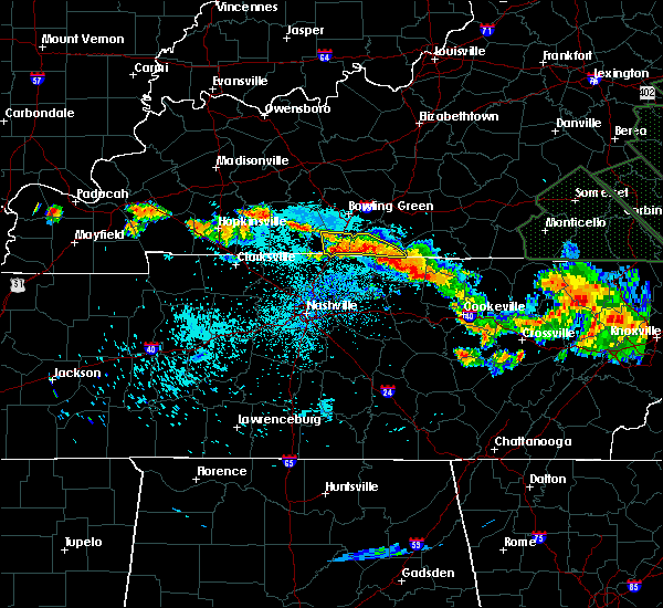Radar Image for Severe Thunderstorms near Graball, TN at 7/14/2015 10:50 PM CDT