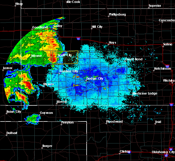 Radar Image for Severe Thunderstorms near Healy, KS at 7/14/2015 11:17 PM CDT