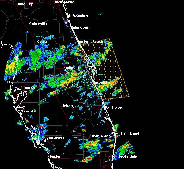 Radar Image for Severe Thunderstorms near Palm Bay, FL at 7/15/2015 2:50 PM EDT
