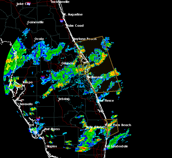 Radar Image for Severe Thunderstorms near Merritt Island, FL at 7/15/2015 3:27 PM EDT