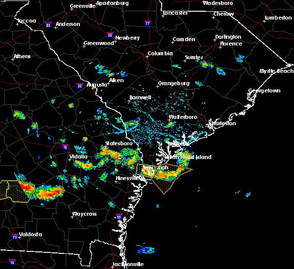 Radar Image for Severe Thunderstorms near Brooklet, GA at 7/15/2015 5:16 PM EDT