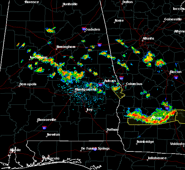 Radar Image for Severe Thunderstorms near Ladonia, AL at 7/15/2015 5:20 PM EDT