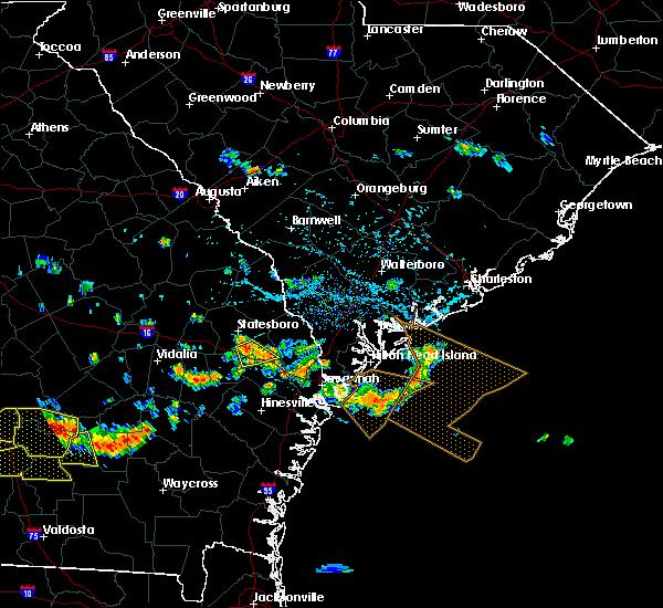 Radar Image for Severe Thunderstorms near Brooklet, GA at 7/15/2015 5:28 PM EDT