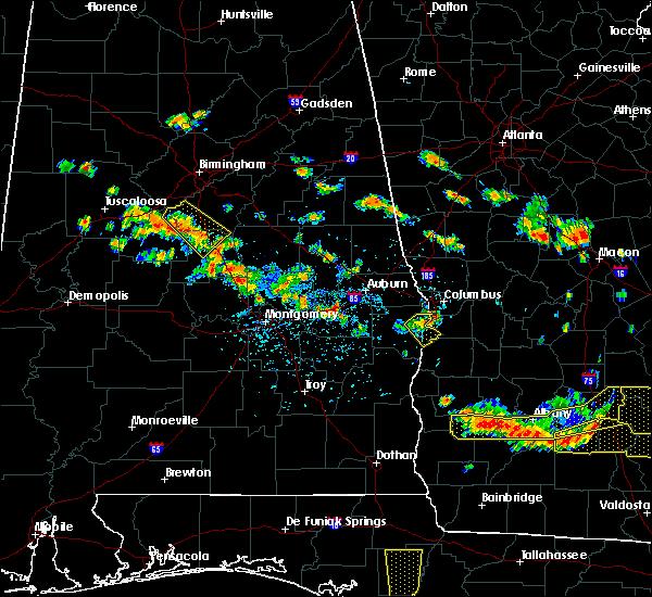 Radar Image for Severe Thunderstorms near Columbus, GA at 7/15/2015 4:38 PM CDT