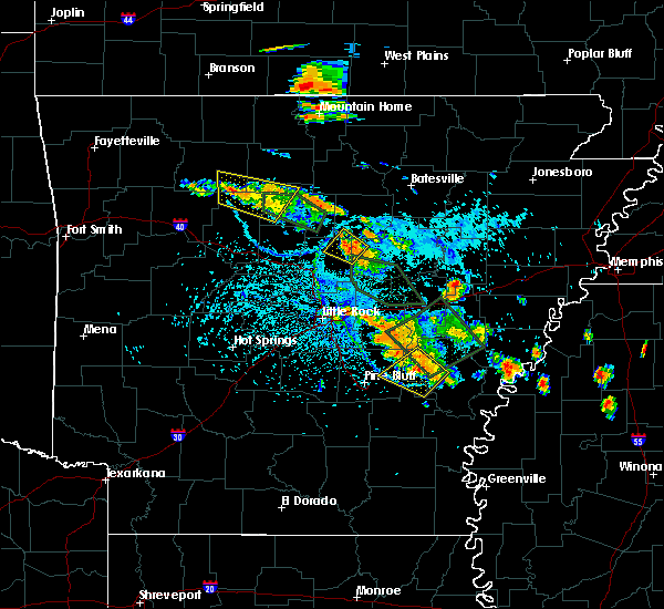 Radar Image for Severe Thunderstorms near Quitman, AR at 7/15/2015 4:45 PM CDT