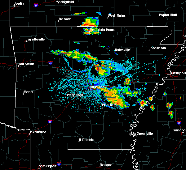 Radar Image for Severe Thunderstorms near McAlmont, AR at 7/15/2015 4:52 PM CDT