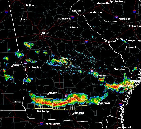 Radar Image for Severe Thunderstorms near Jeffersonville, GA at 7/15/2015 6:21 PM EDT