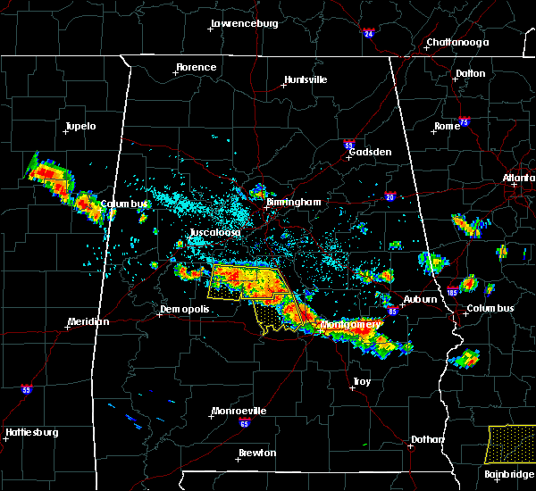 Radar Image for Severe Thunderstorms near Clanton, AL at 7/15/2015 5:25 PM CDT