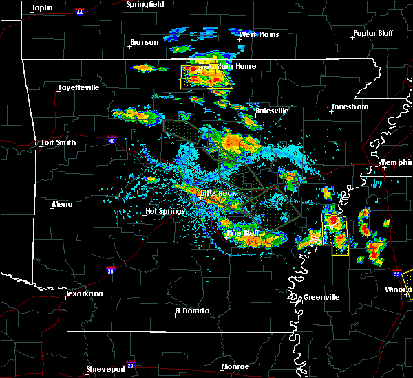 Radar Image for Severe Thunderstorms near Lakeview, AR at 7/15/2015 5:32 PM CDT