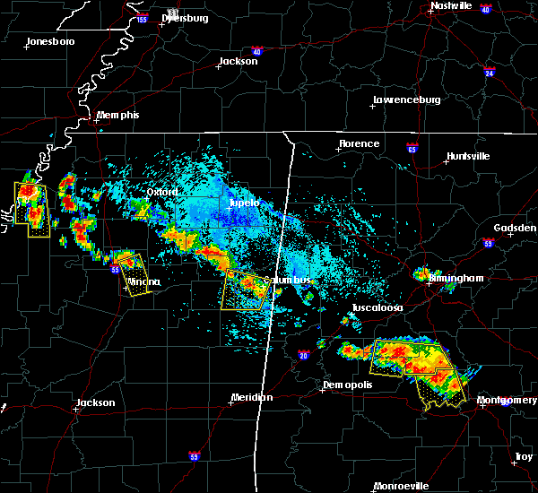 Radar Image for Severe Thunderstorms near Winona, MS at 7/15/2015 5:31 PM CDT