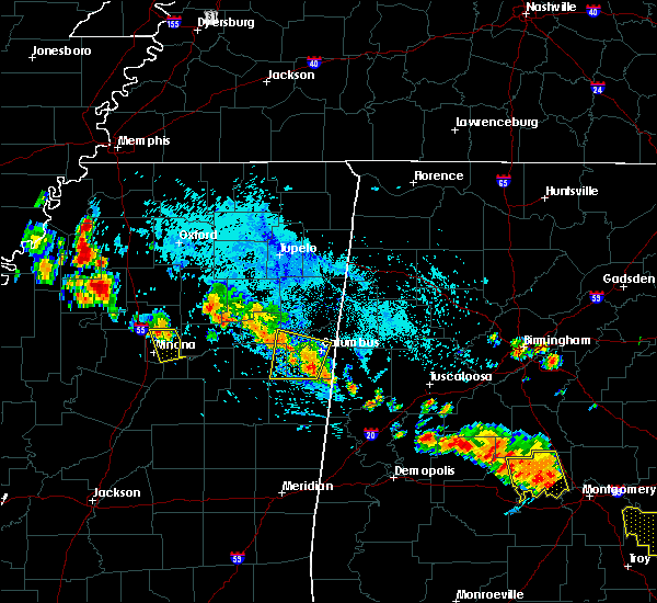 Radar Image for Severe Thunderstorms near Winona, MS at 7/15/2015 5:53 PM CDT