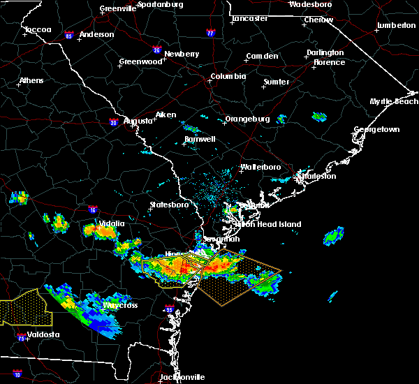 Radar Image for Severe Thunderstorms near Savannah, GA at 7/15/2015 6:59 PM EDT