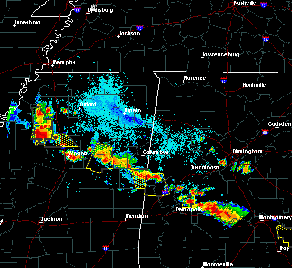 Radar Image for Severe Thunderstorms near Holcomb, MS at 7/15/2015 6:30 PM CDT