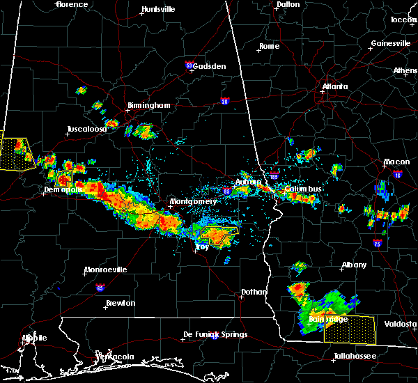 Radar Image for Severe Thunderstorms near Midway, AL at 7/15/2015 6:34 PM CDT