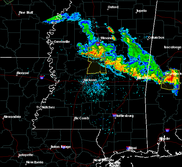 Radar Image for Severe Thunderstorms near Sallis, MS at 7/15/2015 8:22 PM CDT