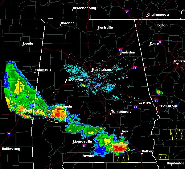 Radar Image for Severe Thunderstorms near Demopolis, AL at 7/15/2015 8:37 PM CDT