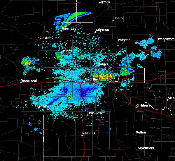 Radar Image for Severe Thunderstorms near Lefors, TX at 7/16/2015 10:56 PM CDT