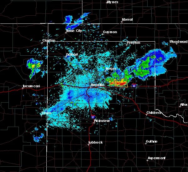 Radar Image for Severe Thunderstorms near Lefors, TX at 7/16/2015 11:22 PM CDT