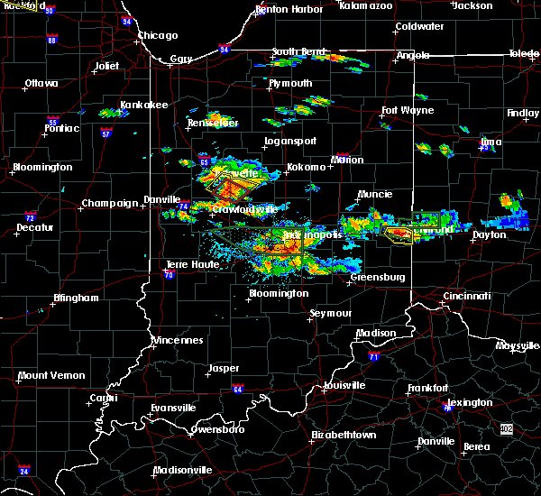 Radar Image for Severe Thunderstorms near Mulberry, IN at 7/17/2015 4:47 PM EDT