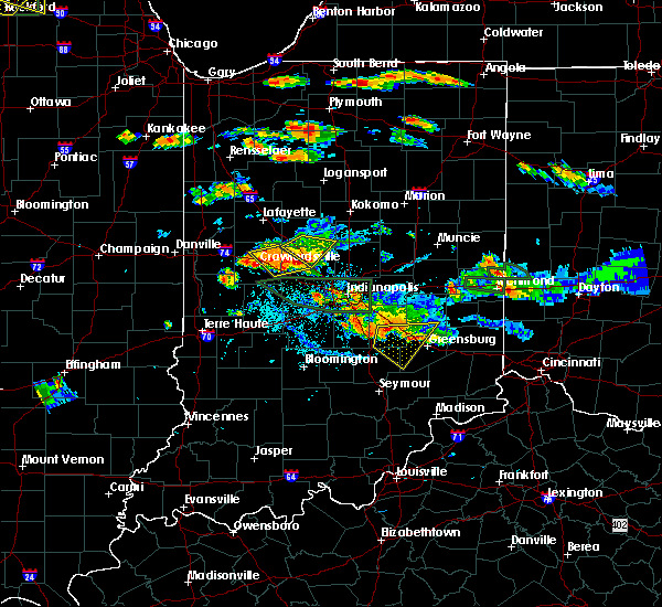 Radar Image for Severe Thunderstorms near Crawfordsville, IN at 7/17/2015 5:30 PM EDT