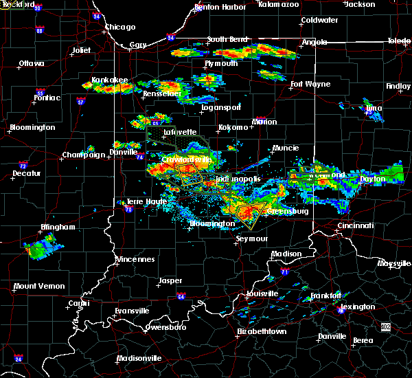 Radar Image for Severe Thunderstorms near Whitestown, IN at 7/17/2015 5:50 PM EDT