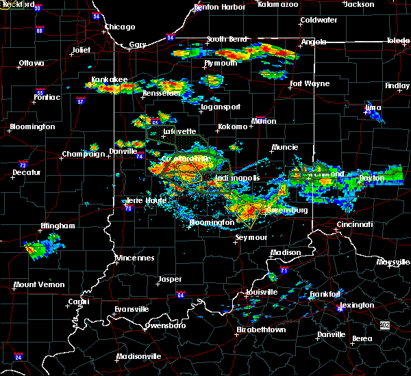 Radar Image for Severe Thunderstorms near Indianapolis, IN at 7/17/2015 6:01 PM EDT