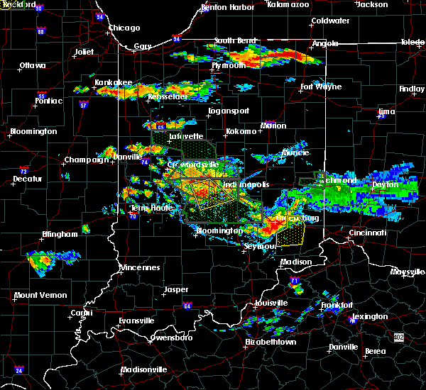 Radar Image for Severe Thunderstorms near Indianapolis, IN at 7/17/2015 6:20 PM EDT