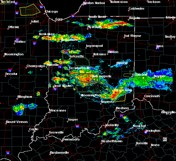 Radar Image for Severe Thunderstorms near Versailles, IN at 7/17/2015 6:29 PM EDT