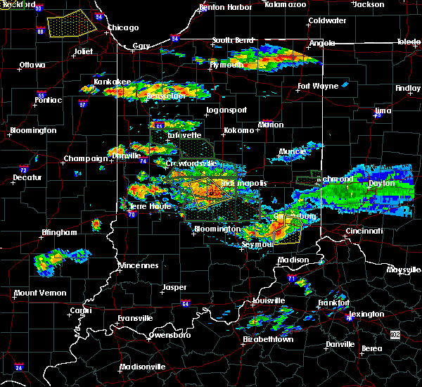 Radar Image for Severe Thunderstorms near Versailles, IN at 7/17/2015 6:32 PM EDT